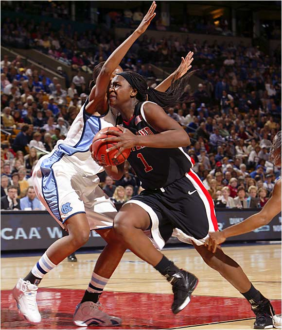 Crystal Langhorne scored 23 points and hit 10 of 12 from the field for the Terps, the only team to defeat North Carolina this season.