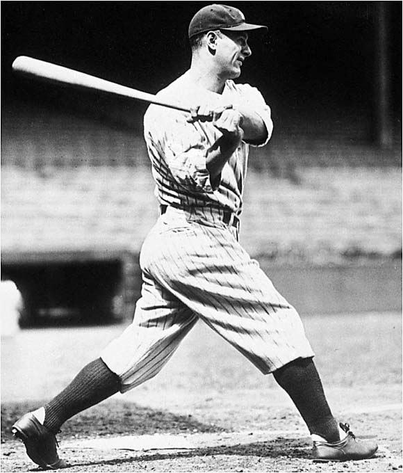 The Iron Horse is still the club's all-time leader in hits (2,721), doubles (535), triples (163) and RBIs (1,995). He was elected into the Hall of Fame in 1939, two years before he died of amyotrophic lateral sclerosis.