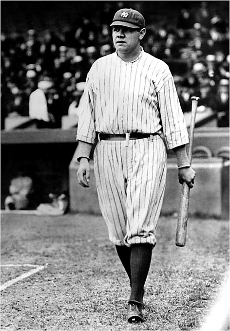 """Of Ruth's 714 career homers, 659 came in the Yankee pinstripes, which, contrary to popular belief, did not include the interlocking """"NY"""" logo during his years with the club."""