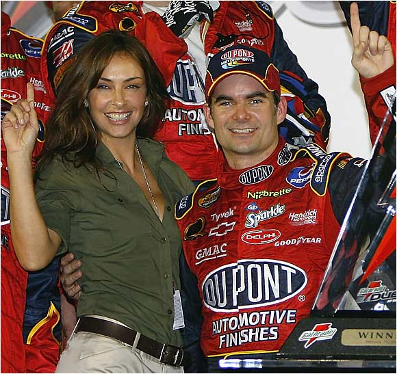 Jeff Gordon's highly public divorce from his wife of seven years was one of the roughest stretches of his career, but he has bounced back and recently married model and actress Ingrid Vandebosch.