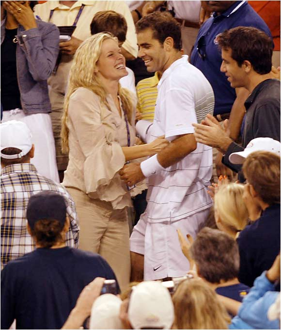 After winning 14 Grand Slams, Pete Sampras retired from the tournament circuit three years ago to spend more time with his wife, actress Bridgette Wilson-Sampras, and their two children, Christian and Ryan.