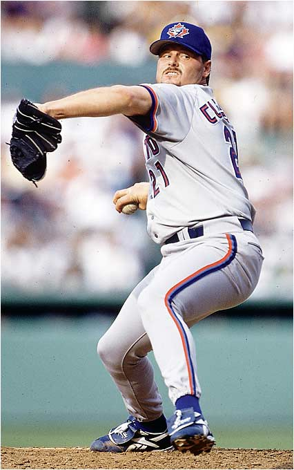 After a bitter breakup with the Red Sox, Clemens returned to dominance in 1997 with the Blue Jays, winning the first of back-to-back Cy Youngs.