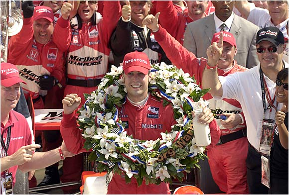 After the second-closest finish in Indy 500 history, Sam Hornish Jr. enjoys the spoils that go to the victor.