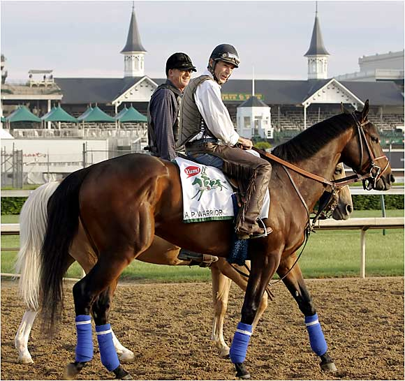 Trainer John Shirreffs, who sent 50-1 longshot Giacomo to his stunning victory in last year's Derby, is back this year with a better horse. A.P. Warrior, a $1.3 million yearling purchase, is the grandson of Seattle Slew and will chase the leaders from the middle of the pack. Good omen: He's living in the same stall that housed Giacomo last May, and starting from the same post position. And he has more talent.