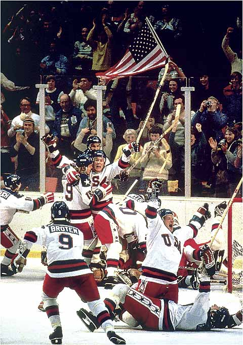 In American sports, the year 1980 means one thing: the Miracle on Ice. The U.S. Olympic hockey team shocked the world by defeating the world's best competition, including the Russians, to take the gold medal. The victory is now synonymous with underdogs beating long odds and is certainly one of United States' most important Olympic achievements.