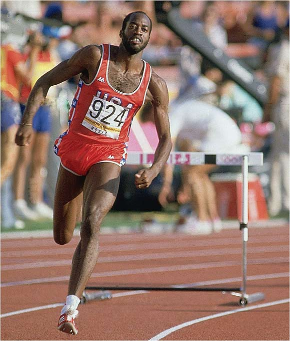 From Sept.1977 through May 1987, no one could beat the 400-meter hurdler. He won gold at the 1976 and 1984 Olympics (the U.S. boycotted the 1980 Games) and set the world record four times.
