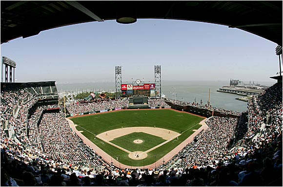 A beautiful day for baseball in San Francisco as the Padres came to town last Tuesday.