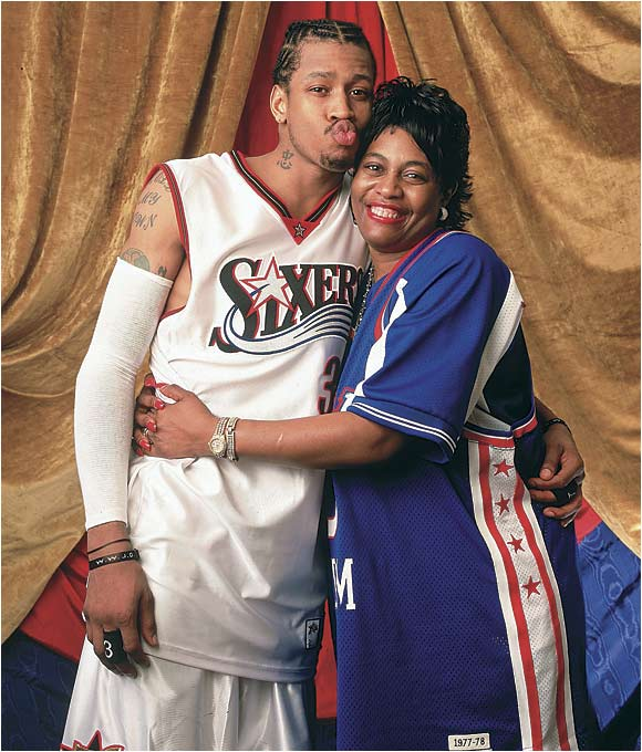 Allen Iverson poses with his mother, Ann.
