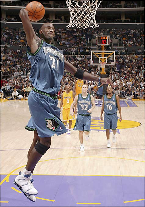 The Big Ticket just completed his 11th NBA season and has advanced past the first round of the playoffs only once, when his Timberwolves lost to the Lakers in the Western Conference finals in 2003. But don't blame Garnett, who has a lifetime scoring average of 22 points, 12 rebounds and four assists. He has earned eight trips to the All-Star Game and has been named to the All-Defense team six times. Unfortunately, GM Kevin McHale has failed to put a competent team behind Garnett, who may finally demand a trade so that he can earn the one award he cherishes most: an NBA championship.