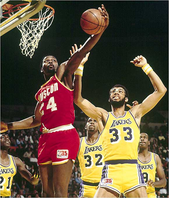 Though this first-round series was only a best-of-three affair, nobody gave the Rockets much of a chance to defeat the defending champion Lakers, who finished the season with 14 more wins than Houston. But Moses Malone, Calvin Murphy and Rudy Tomjanovich were able to contain Kareem Abdul Jabbar and second-year star Magic Johnson as the Rockets won the deciding Game 3, 89-86, to take the series. Houston continued its surprise run all the way to the NBA Finals but were eventually defeated by Larry Bird and the Boston Celtics.