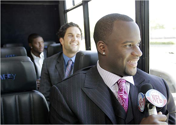 Neither Vince Young nor Matt Leinart nor Reggie Bush went first in the draft. Nonetheless, they all enjoyed their visit to the Big Apple.