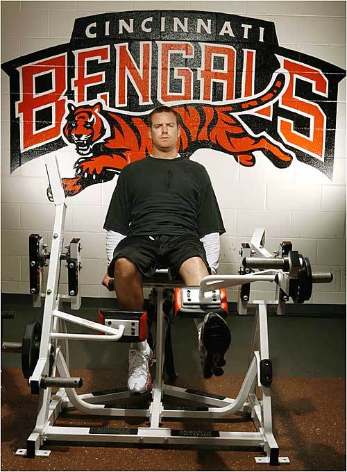 Palmer is using his goal of being on the field for the Bengals' Sept. 10 opener as motivation for his grueling rehab.