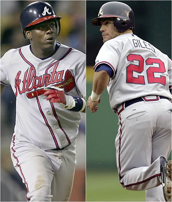 Though he has slowed down of late, Renteria has 251 career steals to his credit. Giles had reached double digits in steals for three consecutive seasons heading into 2006.