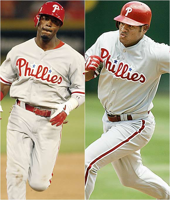 Abreu has been a 30 home run/30 steals man twice in his career, while Rollins was the 2001 NL stolen base champion and swiped 41 bags last year.