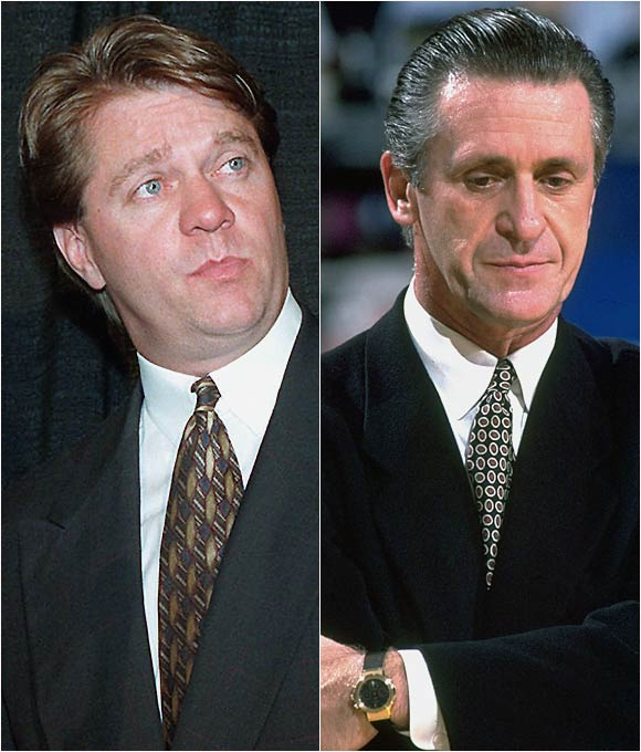 "After four years coaching the Knicks, Pat Riley faxed in his resignation to the team's front office to accept a lucrative deal as coach and president of the Miami Heat in 1995.   Riley: ``I was not going to be squashed by the Knicks machine. I did not, contrary to what Mr. Checketts said, turn my back on the New York Knicks fans. I turned my back on him. Period. One person. One person only. It was a broken promise. He knows it.""   Checketts: ""Pat, listen to your father. Your father said, `There comes a time when you have to plant your feet firmly on the ground and take a stand.' Given a chance to come clean, why doesn't he just stand up and take a stance? Pat, the truth is, you got a once-in-a-lifetime, unbelievable coaching deal. I understand that. The reason I got angry was you gave up on our team in the middle of the fourth season. You stopped coaching our team to negotiate with another team. You owe the team and the organization an apology ... The more he goes on with this song of somehow it was about me and my word, he sounds like Tyson trying to explain why he had to bite Holyfield."""