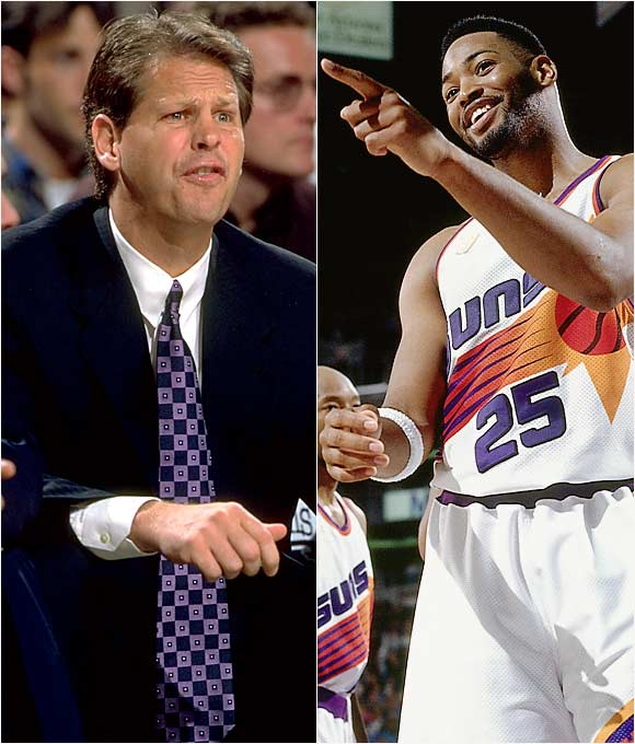 "The sharp-shooting forward disagreed with being pulled from a game in January 1997 and expressed his displeasure by throwing a towel at then Suns coach Ainge, who traded Horry to the Lakers less than a week later.   Horry: ""Anybody who will look will see that I respected Rudy [Tomjanovich, in Houston]. I respected Cotton [Fitzsimmons]. With Danny, I respected him, but I never felt like he was really the coach. I saw him as a guy I had just finished playing against. It never hit me that he was the coach. I guess I found out the hard way.""   Ainge: ""I never felt like Robert felt like he belonged on our team. He communicated that to me.... He said that the only guys he talked with were Sam [Cassell] and Chucky [Brown], and they weren't there anymore.  He just didn't fit in with this group of guys."""