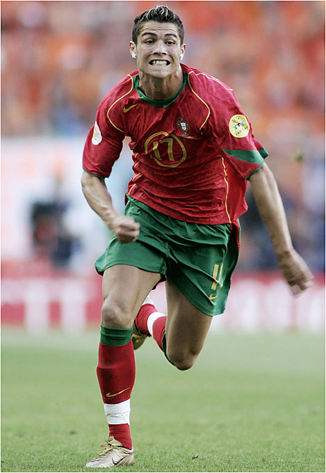 Named for Ronald Reagan, the nimble Manchester United winger played a big role in Portugal's run to the Euro '04 final and is already one of the world's most skilled and entertaining players.
