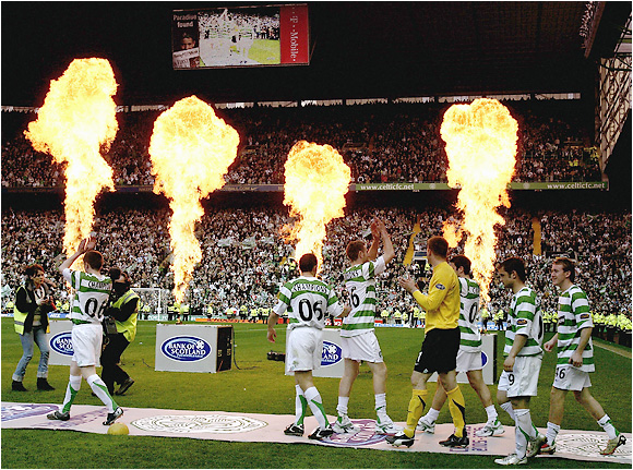 Celtic Park pulls out all the stops as the Glasgow faithful cheer on their Bhoys, who won their 40th Scottish Premier League title.