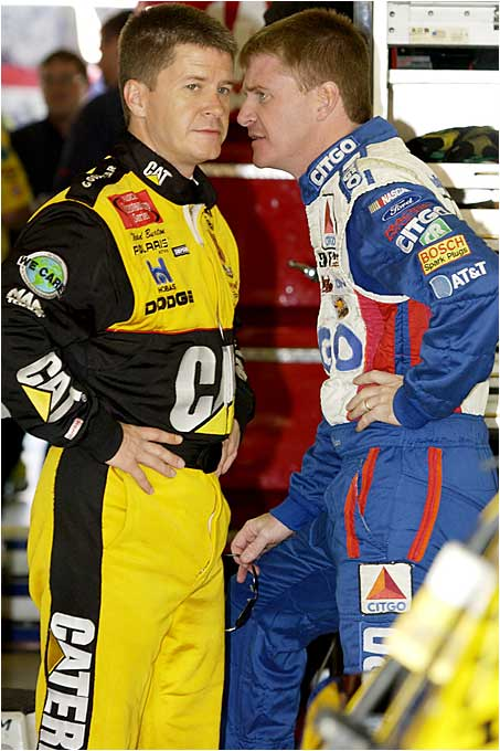 Jeff and Ward have been solid but not spectacular Nextel Cup drivers since the early 1990s. (Pictured from left: Ward and Jeff Burton.)