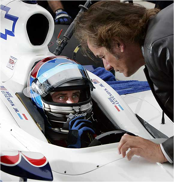 Arie won the Indy 500 twice, while his son, Arie Jr., qualified for the 2006 race. (Pictured from left: Arie Jr. and Arie Luyendyk.)