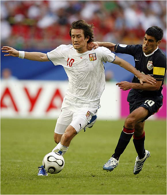 Tomas Rosicky scored two goals against the U.S. in the second half and barely missed on a possible third one.