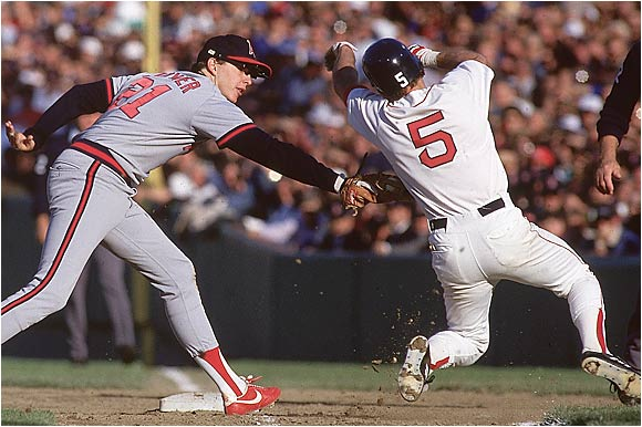 Maybe Red Sox fans shouldn't complain about Bill Buckner. The Angels led 5-4 in the 1986 ALCS and were one strike away from that fateful World Series before Boston's Dave Henderson launched a two-run blast off Donnie Moore. Then, in the bottom of the ninth, California actually loaded the bases after tying it up again, but to no avail. The Angels would lose in extra innings, and drop the remaining two games to the Sox.