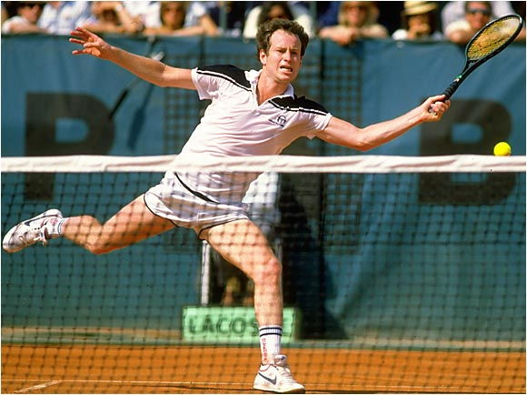 John McEnroe was in his prime in 1984 (he would go 82-3), but even he couldn't prevent a momentous collapse against Ivan Lendl in the French Open. After jumping out to a swift lead, two sets to none, McEnroe's temper took over as the Czech star dramatically fought back to win in five sets. Ultimately, McEnroe's 39-match winning streak was snapped, and a French Open victory would never be so close.