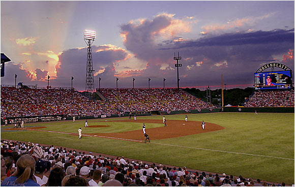 Omaha's Rosenblatt Stadium has hosted the College World Series since 1950, and remains one of the nation's best places to see a ballgame.