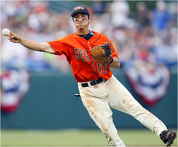 A fifth-inning error by Oregon State shortstop Darwin Barney (10) was the only error in 51 1/3 innings for the Beavers.