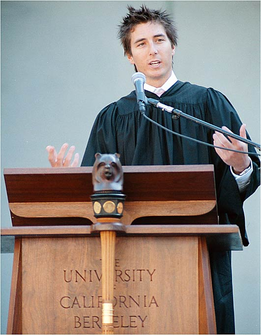 """Former """"Real World/Road Rules Challenge"""" host Jonny Moseley described his experience as an Olympic freestyle skier during the keynote address at the University of California in 2002."""