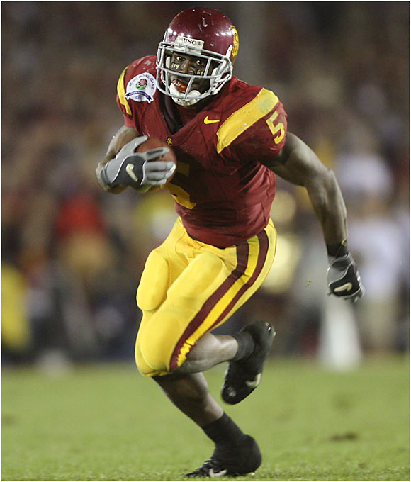 Never mind that Bush went No. 2 in April's NFL draft -- the USC star and Heisman Trophy winner was the most electrifying player in college football. Bush led the nation with 222.3 all-purpose yards per game and scored 19 touchdowns in 2005, highlighted by his 513-yard effort against Fresno State on Nov. 19 that was loaded with jaw-dropping runs.