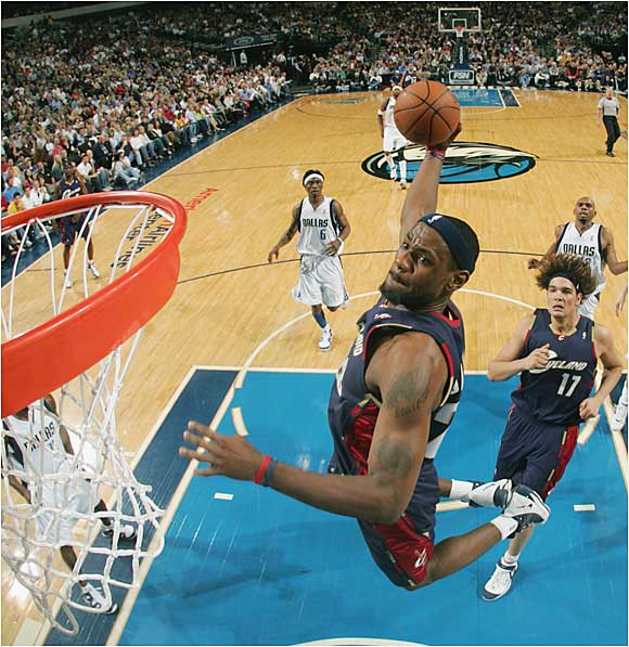 In dispatching the Wizards and making the Pistons sweat in the 2006 NBA playoffs, James demonstrated why he is perhaps the most dangerous player in pro basketball. Capable of slicing through defenses for rim-rattling dunks or dissecting them with pinpoint passing, James is one of those rare players who is not only the best player on the floor but capable of making those around him better, too.