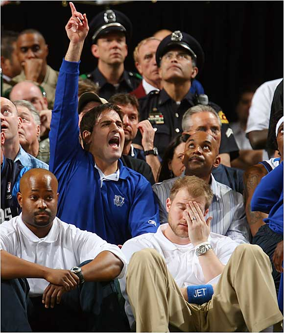 Feb. 14, 2000, marked a turning point for the floundering Mavs, sparked by Mark Cuban's purchase of the team for $285 million. Forward Dirk Nowitzki emerged as an offensive threat, and Nowitzki, Steve Nash and Michael Finley became one of the best trios in the NBA. In Cuban's first year, the team improved to 53-29 and secured its first playoff berth in 11 years. It advanced to the second round, where it was knocked out by San Antonio.