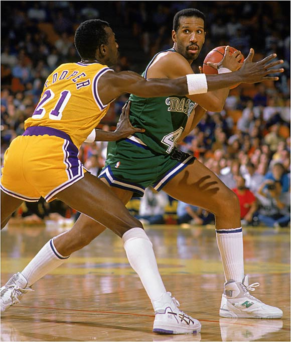 The 1989-90 season was a rough one for Dallas. Roy Tarpley was suspended for violating the league's anti-drug policy. Mark Aguirre was traded to Detroit for Adrian Dantley, but Dantley refused to report to the Mavs for eight days. Detlef Shrempf was traded, and James Donaldson went down with a ruptured patella tendon in early March. The team limped to a 38-44 record and missed the playoffs for the first time since 1982-83.