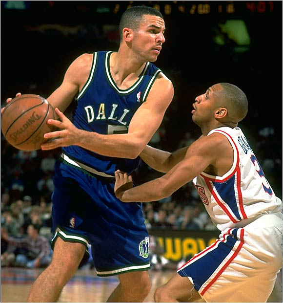 The Mavericks of the 1990s were as bad as it gets for a franchise. For 10 years, beginning in 1991, the team never had a winning season and finished with a combined 166-458 mark. Roy Tarpley was suspended two more times for drug use, and the infighting among the Three J's (Jason Kidd, Jamal Mashburn and Jimmy Jackson) forced the team to blow up its roster.