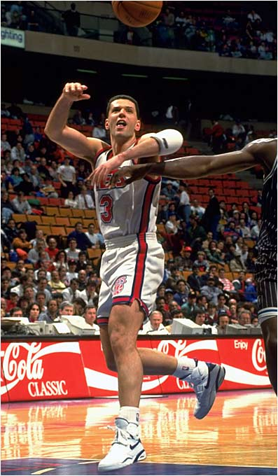 Drafted as a 21-year-old, he passed on joining the Trail Blazers after they drafted him in the third round. With Jim Paxson and Clyde Drexler already ensconced at the wing positions, the Trail Blazers couldn't have minded as Drazen decided to hone his skills with the highly regarded Real Madrid outfit. Coming over for the 1989-90 campaign, Petrovic averaged 7.6 points in just 12.6 minutes for a Trail Blazers team that would lose that year's Finals. Moving on to the Nets after requesting a trade, Petrovic averaged over 20 points per game in 1991-92 and 1992-93 before passing away in a 1993 car accident.