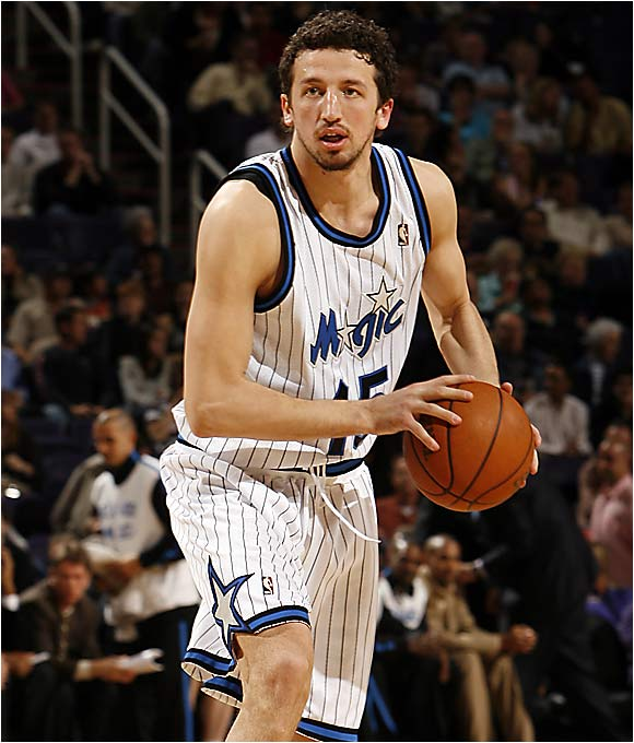 He didn't waste any time after the Kings drafted him, becoming a rotation player in coach Rick Adelman's system for his first three seasons. More adept at shooting from the outside and off the dribble than dashing into the lane, Turkoglu has rounded into a solid player and one of the league's best sixth men. Now with his third team, the 27-year-old Magic forward established career highs in points (14.9 per game) and shooting percentage (45 percent) in his sixth season.