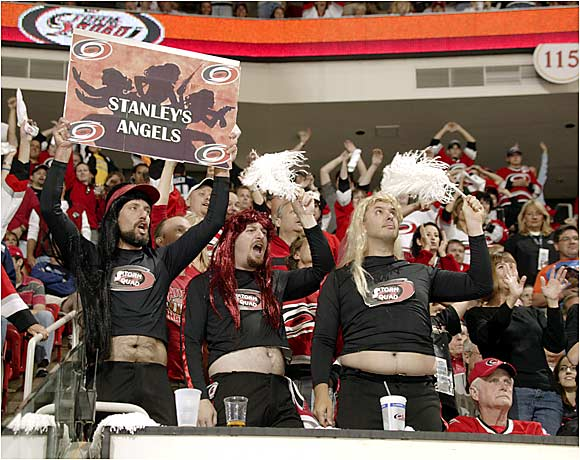 Hurricanes fans at Game 1 gave lie to the accusation that Raleigh is a less-than-enthusiastic hockey town.