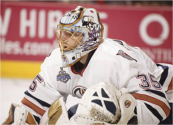 Dwayne Roloson was a rock after arriving in Edmonton at the trade deadline in March. The Oilers reeled when the stalwart goalie was lost for the rest of the finals after suffering a torn knee ligament and hyperextended elbow in Game 1.