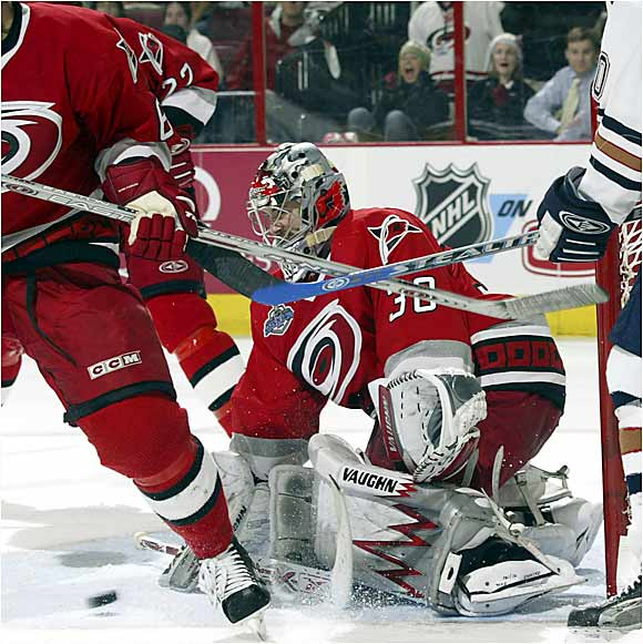 Hurricanes netminder Cam Ward stopped 25 shots in Game 2 while becoming the first rookie to record a shutout in the Cup finals since Montreal's Patrick Roy in 1986.