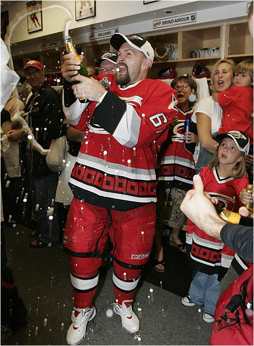 The bubbly tasted sweet again for clutch winger Cory Stillman, who won the Stanley Cup with the Tampa Bay Lightning in 2004.