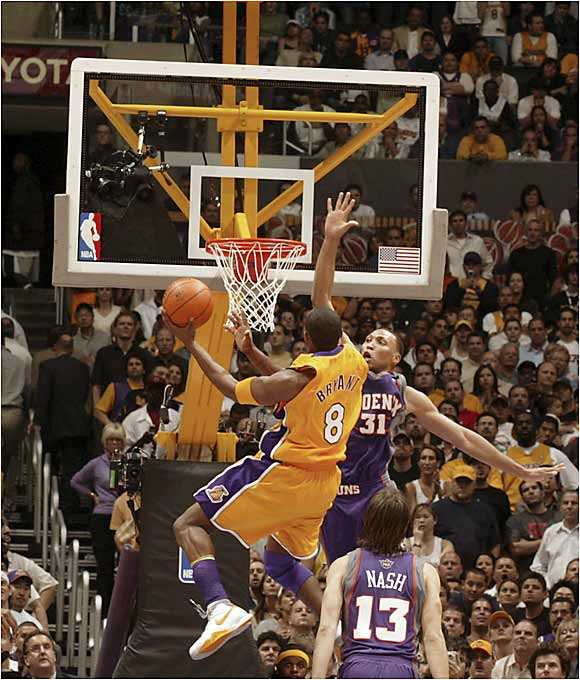 Although this game will be remembered for Tim Thomas' season-saving three-pointer with six seconds left in regulation, Bryant's 50-point outburst put him atop the list for the highest single-game scoring in these playoffs. Despite scoring all 13 of the Lakers' points in overtime, Bryant couldn't lead his team to a series-clinching victory.