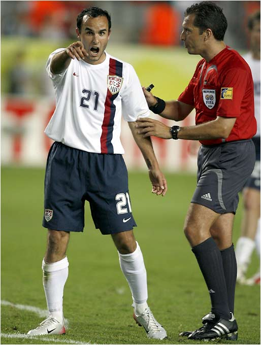 Landon Donovan was just one of many upset with the officiating of referee Jorge Larrionda.