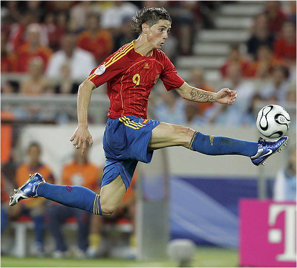 Fernando Torres helped his team rebound from a 1-0 halftime deficit against Tunisia, and carried Spain to a 3-1 victory in Stuggart. Torres contributed two goals and Spain out shot Tunisia 26-4.