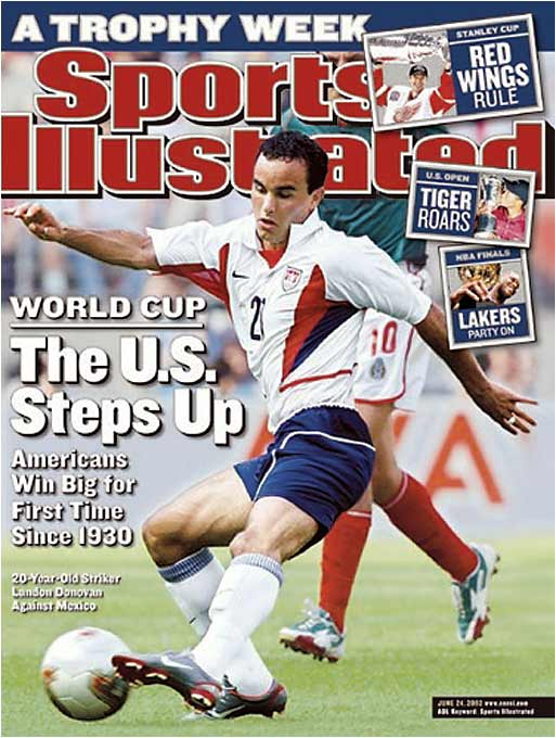 Behind emerging young star Landon Donovan, the U.S. advanced out of a tough group that included Portugal and Poland, shocked Mexico in the round of 16 and nearly pulled off a huge upset of eventual finalist Germany in the quarterfinals.