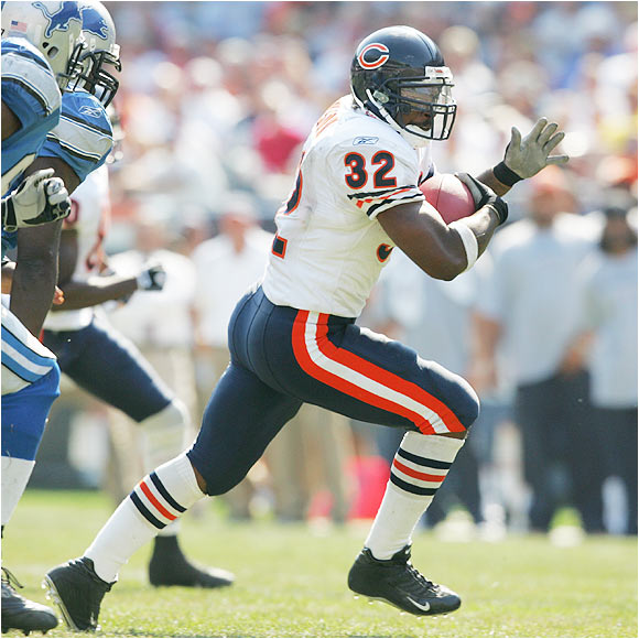 He worked out with the first team in minicamp, most likely because Thomas Jones skipped voluntary workouts. Jones will probably take back the starting role, but don't be surprised if Benson is on the field more often this year and starts to produce. Bears management wants the second-year back to succeed, and he has the talent to do so.