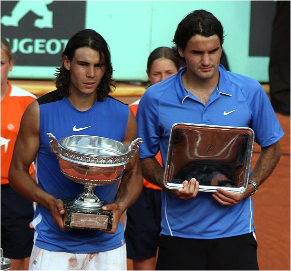 Rafael Nadal won the first meeting of the two top-seeded men in a Roland Garros final since 1984.