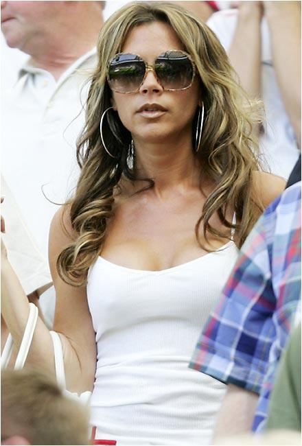 Wife of England midfielder David Beckham.