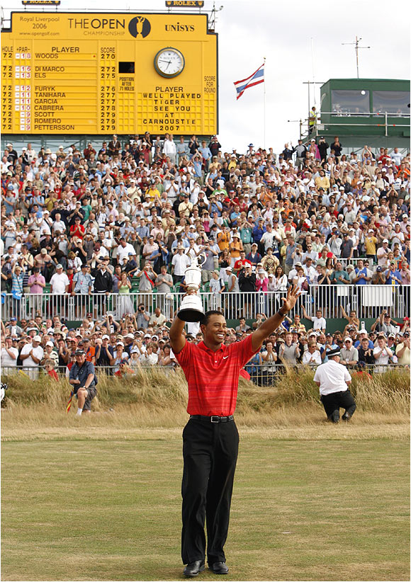 Tiger Woods has now made 12 consecutive British Open cuts, his longest current streak in the majors.