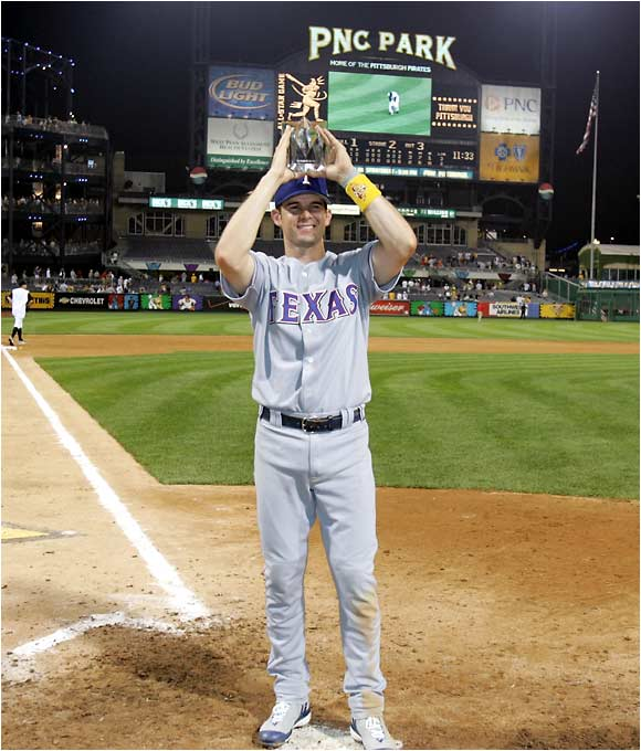 Michael Young is the third Texas Rangers player to win All-Star Game MVP honors.